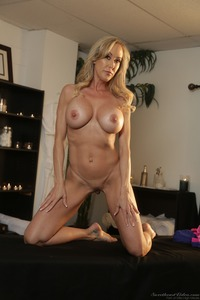 Busty Blonde MILF Brandi Love Strips 09