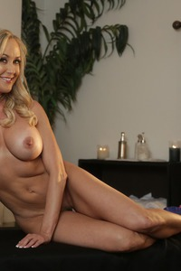 Busty Blonde MILF Brandi Love Strips 14