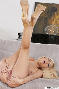Tasha Reign Plays With Her Pussy On Couch 02