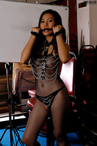 Erena Pine In Black Fishnet Bodystocking And Boots 00