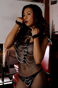 Erena Pine In Black Fishnet Bodystocking And Boots 01