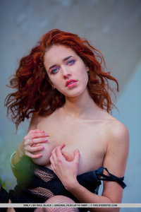 Redhead Girl Emily J Busting Out Her Tits 01