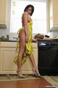 Tory Lane Plays With Her Pussy In The Kitchen 07
