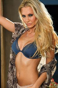 Busty Blond Playboy Babe Jennifer Vaughn
