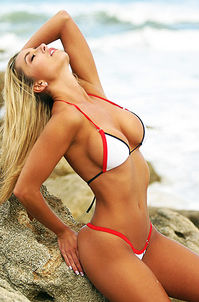 Red Trim Bikini