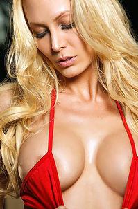 Jennifer Vaughn Peels Off Her Sexy Red Bikini