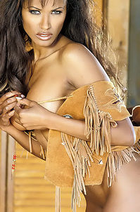 Traci Bingham Stripping Her Tiny Indian Outfit