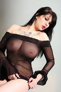 Busty Gothic Babe Posing