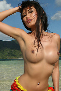 Davon Kim Posing On Beach