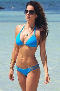 Brooke Burke In Blue Bikini