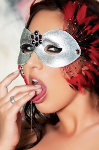 Sexy Hot Babe Zoe Britton In A Mask