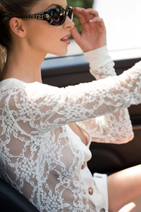 Sexy Amber Sym In White Lace Top