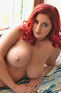 Busty Redhead Lucy Collett Is A Chubby Babe