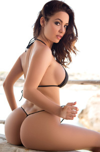 Amazing Sexy Adrienn Levai On The Beach