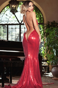 Yesenia Bustillo In Extra Hot Firered Dress