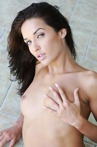 Olga Posing Naked On The Balcony