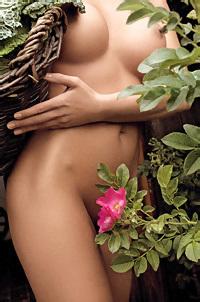 Iza Sala Nude In The Garden