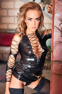 Lucy Anne Brooks In Sexy Leather Outfit