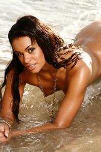 Antoinette Alexis On The Beach