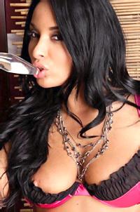 Anissa Kate Uses Her Glass Dildo