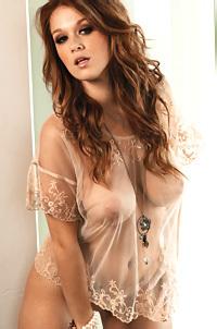 Leanna Decker Busty Redhead Playboy Babe