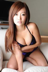 Ayako Yamanaka In Sexy Purple Lingerie