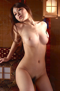 Busty Asian Naked Posing