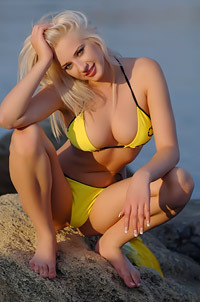 Magda Drops Yellow Bikini