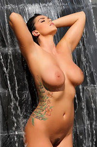 Alison Tyler Is Wet Under Waterfall