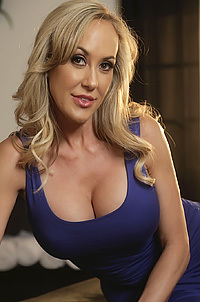 Busty Blonde MILF Brandi Love Strips
