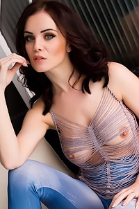 Emma Glover In Sexy See-Through Top