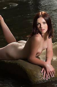 Redhead Cordoba Nude In The Brook