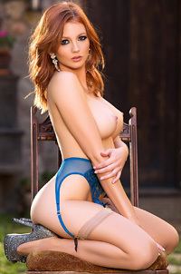 Perfect Redhead Playboy Babe Chandler South