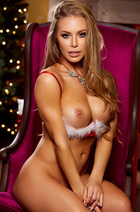 Busty Blonde Nicole Aniston In Sexy Christmas Lingerie