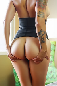 Dana Vespoli In Sexy Black Corset