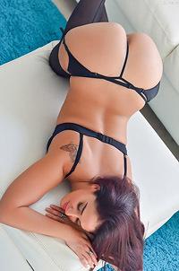 Sheena Masturbates In Stockings