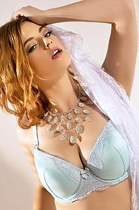 Lottii Rose Flirts Her Turquoise Lingerie