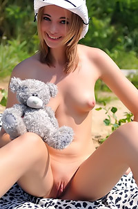 Rachel Blau With Her Teddy Bear