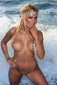 Ashley Bulgari Hot Blonde Chick On The Beach 13