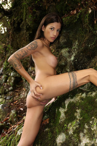 Silvia Dellai In Front Of The Waterfall 18