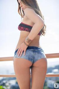 Sexy Playboy Babe Tierra Lee In Denim Shorts 00