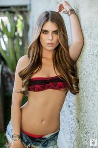 Sexy Playboy Babe Tierra Lee In Denim Shorts 03
