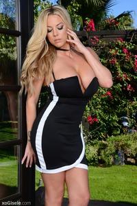 Xo Gisele In Black Dress 03