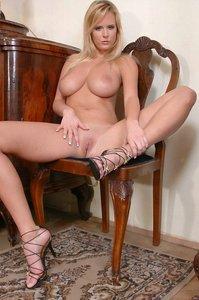 Busty Zuzana Strips Off Her Dress 02