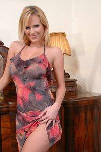 Busty Zuzana Strips Off Her Dress 08